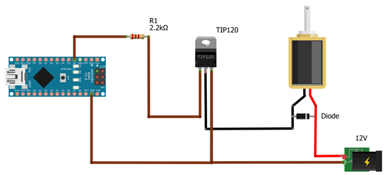 Controlling A Solenoid Valve From An Arduino on sprinkler circuit diagram