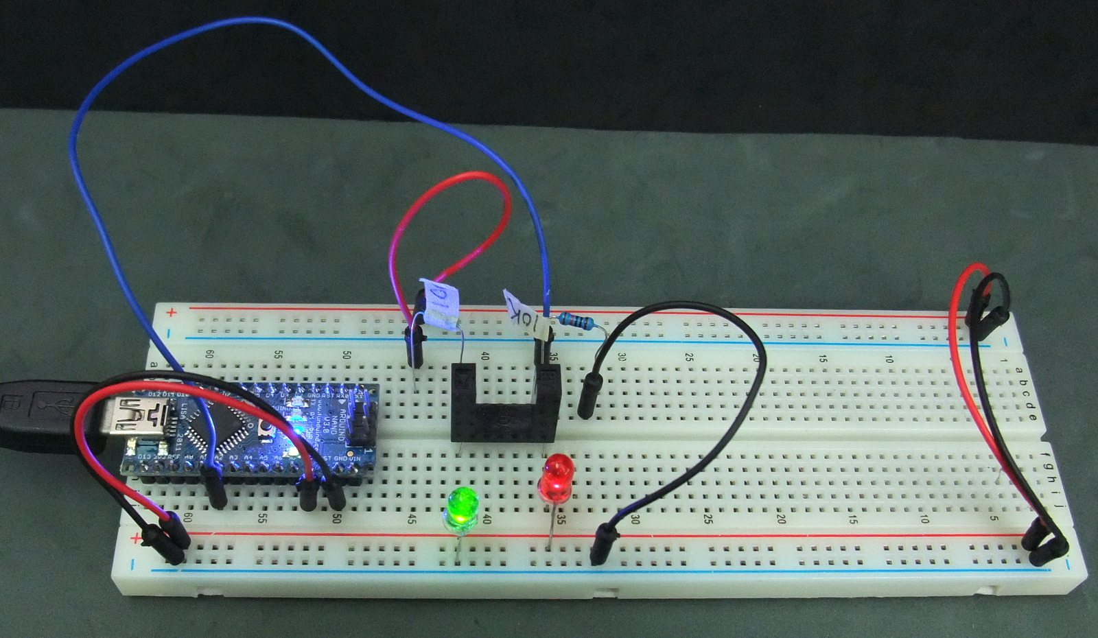 Connecting A Photo Interrupter Optoisolator To An Arduino Martyn Circuit Send The Opto Isolator Drive Driver Test