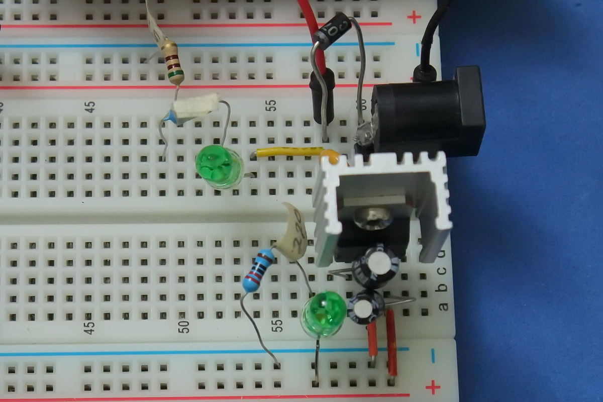 12v To 5v 6v Martyn Currey Converter Circuit With 7805 Power Supply