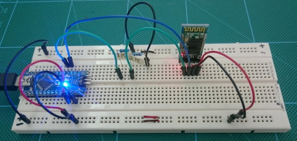 HC-05 Basic set up - BreadBoard_1200