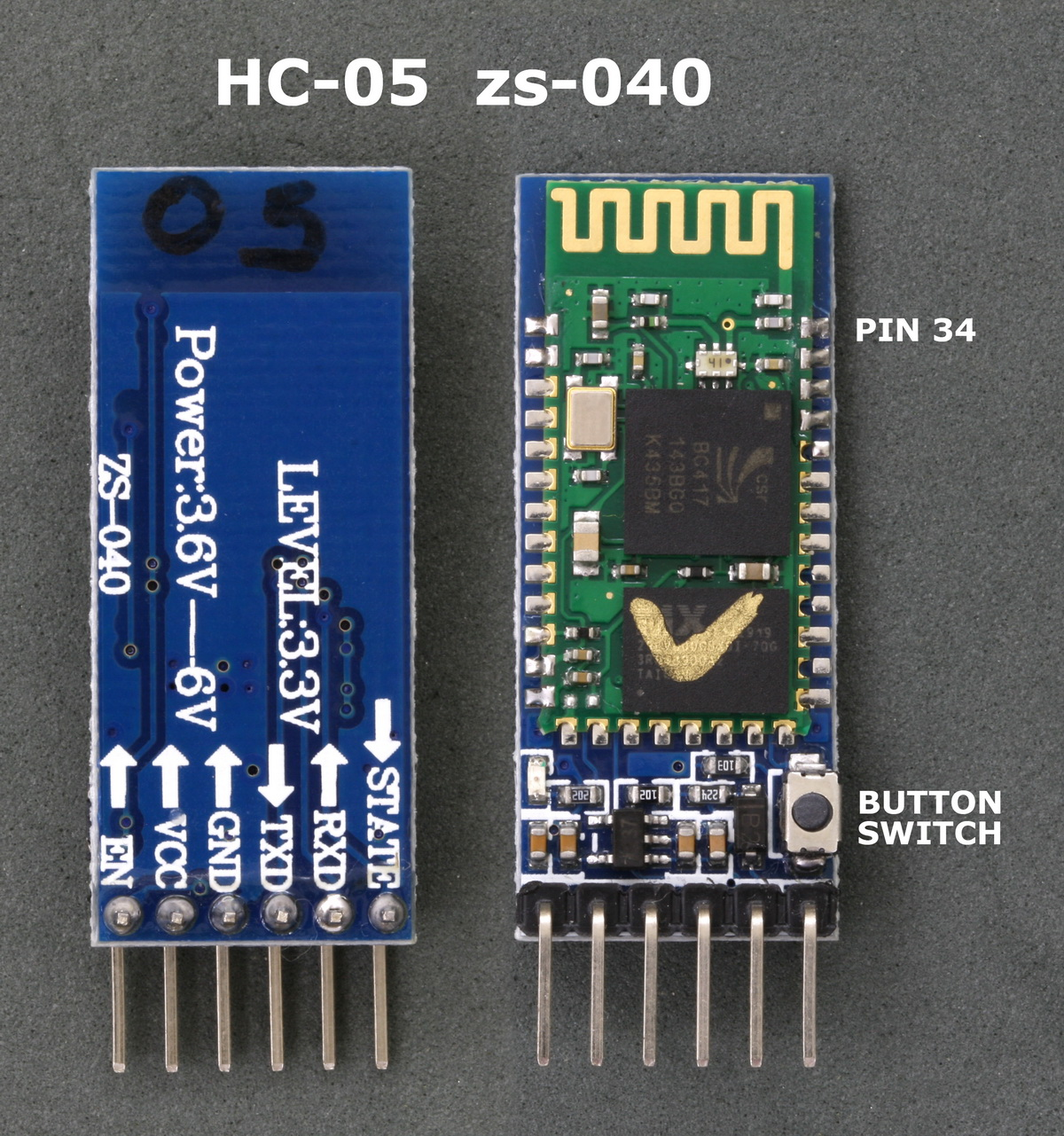 arduino with hc-05 (zs-040) bluetooth module – at mode