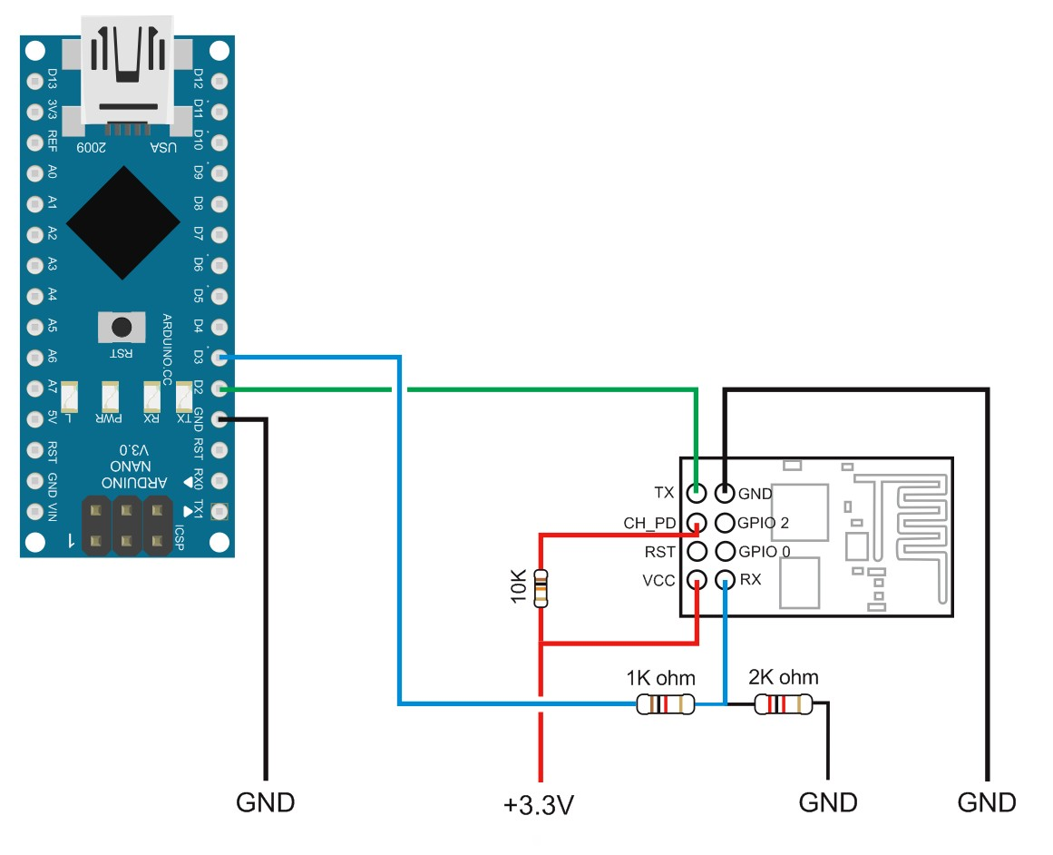 arduino to esp8266 by serial communication