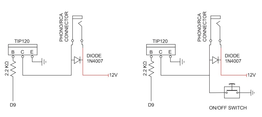 add push button switch to tip120