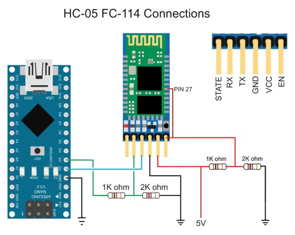 HC-05 FC-114 Connections