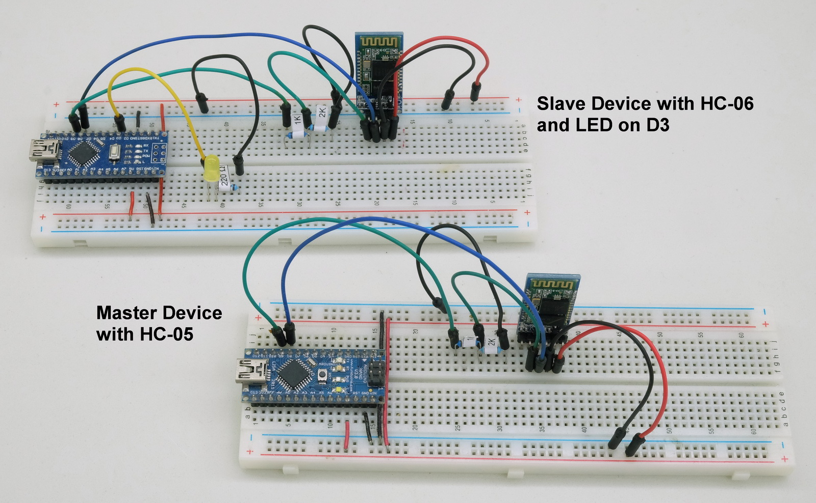Arduino to Arduino by Bluetooth | Martyn Currey