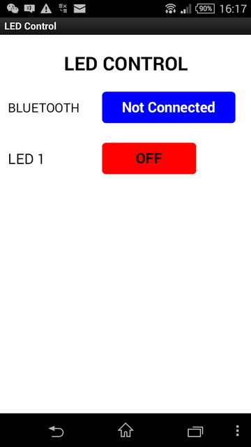 Turning a LED on and off with an Arduino, Bluetooth and Android