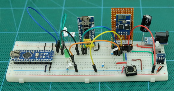 ESP8266 Adaptor version 2 on a breadboard