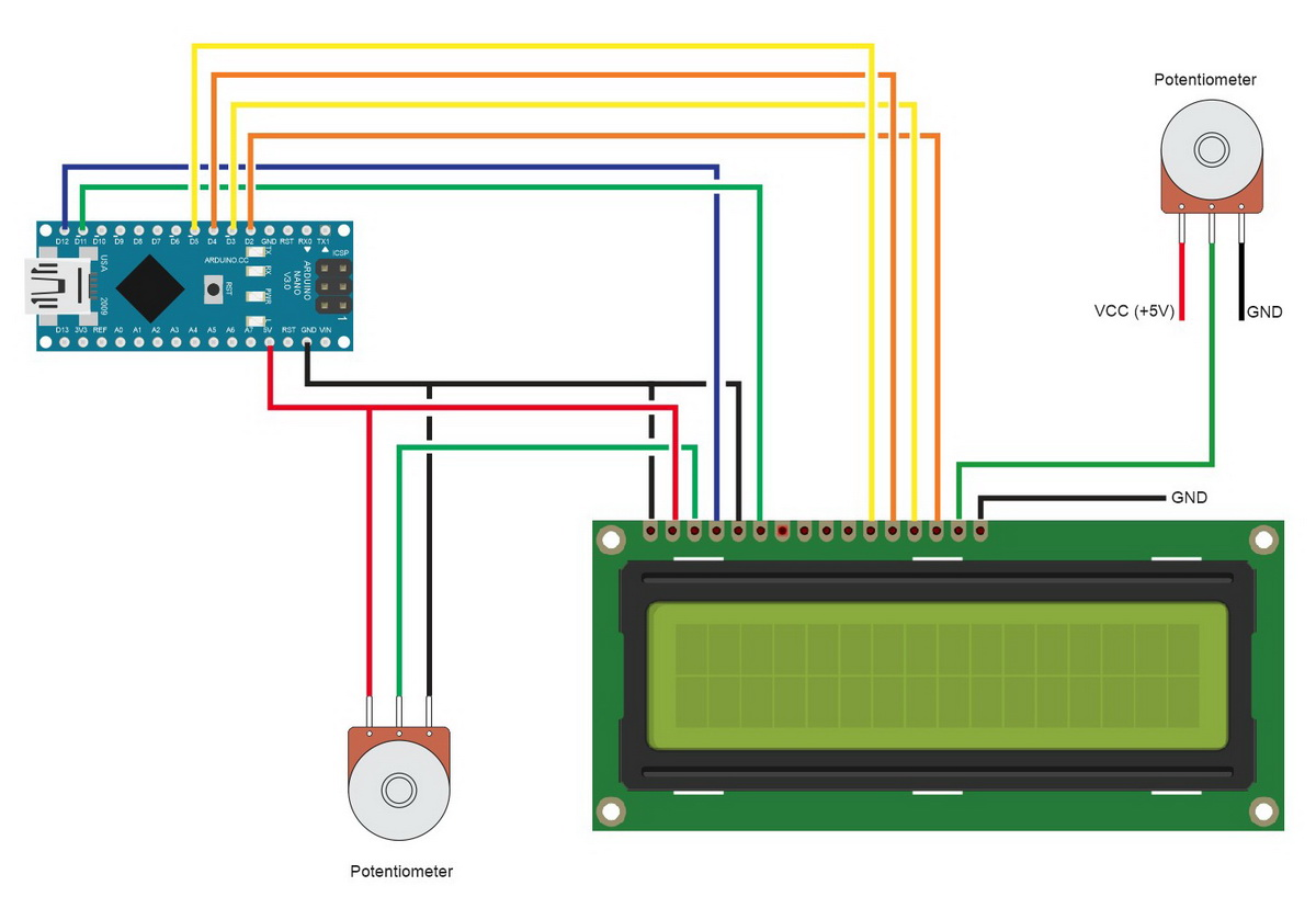 Arduino With Hd44780 Based Character Lcds Martyn Currey Lcd Light Wiring Diagram Lcdsparallel Circuitdiagram 002 1200