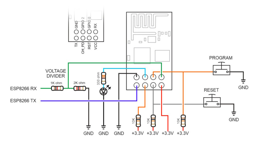 ESP8266-01_Programming_Board_Circuit_1200