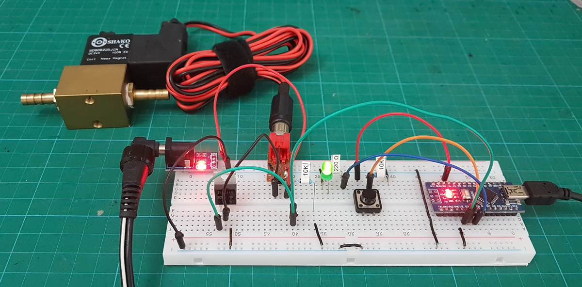 Controlling a Solenoid Valve from an Arduino  Updated